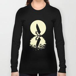 Moon Windsurfing T Shirt Long Sleeve T-shirt
