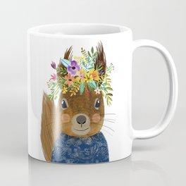 Squirrel with floral crown Coffee Mug
