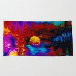 Strange Moon Beach Towel