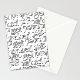 get naked Stationery Cards