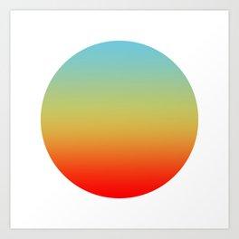 Sunset Round Art Print