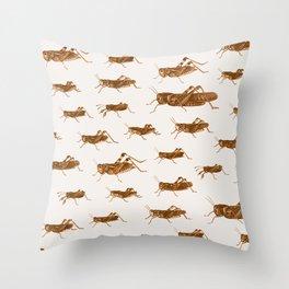 Crickets Throw Pillow