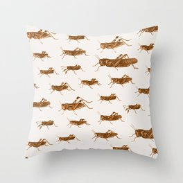 Crickets Throw Pillow