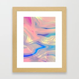 Holographic Dreams Framed Art Print