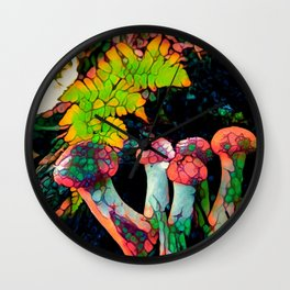 Pebbly Psychedelics Wall Clock