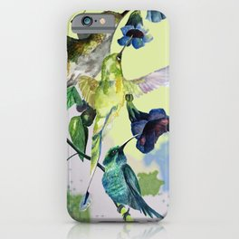 Hummingbirds in spring iPhone Case