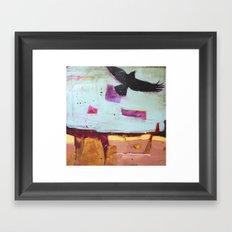 Denim Days 2 Crow Framed Art Print