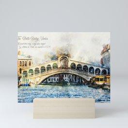 Rialto Bridge, Venice, Italy Mini Art Print