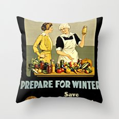 Waste Not Want Not Throw Pillow