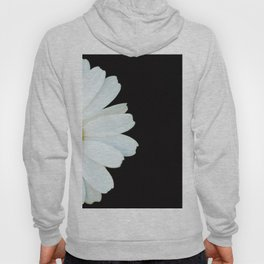 Hello Daisy - White Flower Black Background #decor #society6 #buyart Hoody