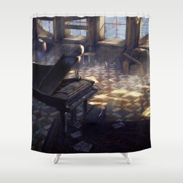 Seaside Ballroom Shower Curtain