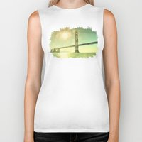 golden Biker Tanks featuring Golden... by Lisa Argyropoulos