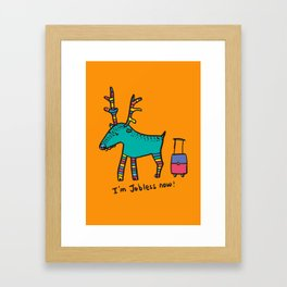 Jobless Rudolph Framed Art Print