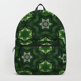 green patchwork mandala stars Backpack