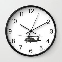 UH-60 Military Helicopter Wall Clock