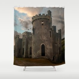 Clifden Castle at the sunset Shower Curtain