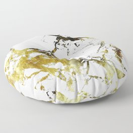 Gold-White Marble Impress Floor Pillow
