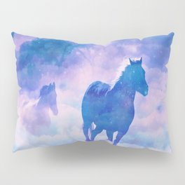 Horses run Pillow Sham