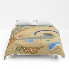 The Benefits Of Incompatibility - abstract pattern minimal modern colorful contemporary shapes  Comforters