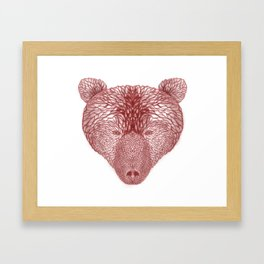 Bear in white Framed Art Print