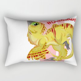 Love for Feathers Rectangular Pillow