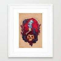 raven Framed Art Prints featuring Raven by Megan Lara