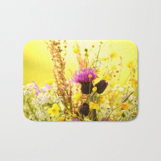 Colorful Wildflowers Bath Mat