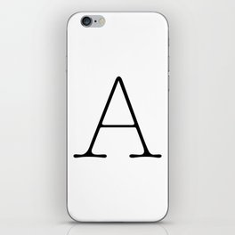 Letter A Typewriting iPhone Skin