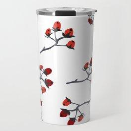 Red berry, Christmas Brier Spray Travel Mug