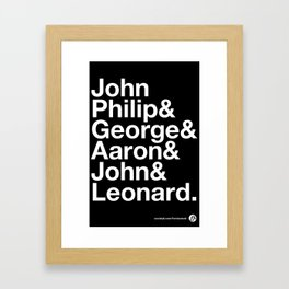 American Composers Framed Art Print