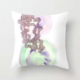14 // Abstract 9 March 2017 | Abstract Shapes Art Colour Throw Pillow