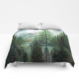 Mountain Morning 2 Comforters
