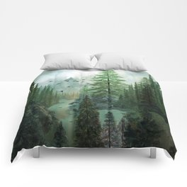 Mountain Morning 2 Comforters