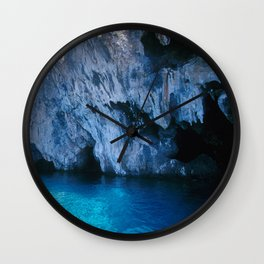 NATURE'S WONDER #5 - BLUE GROTTO (Turkey) #2 #art #society6 Wall Clock
