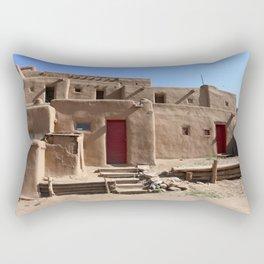 Taos Red Doors Rectangular Pillow