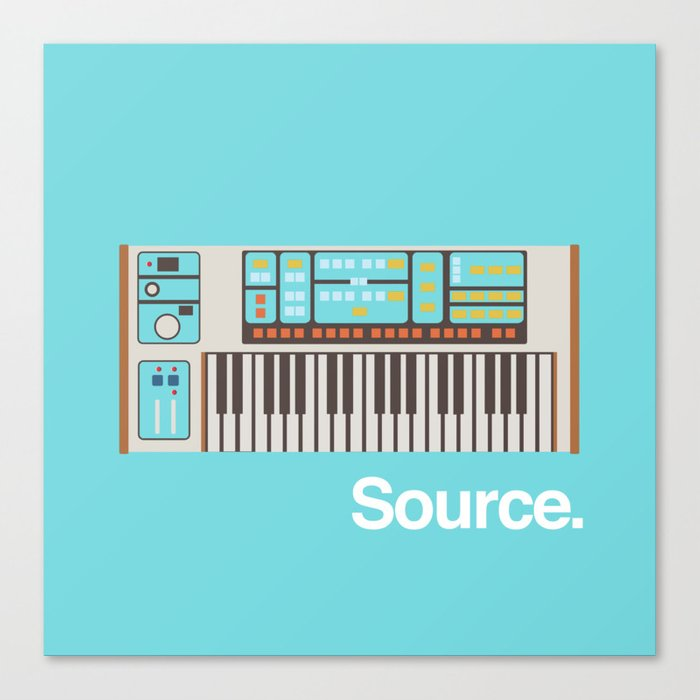 Moog Source Canvas Print