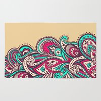paisley Area & Throw Rugs featuring Paisley by Cultivate Bohemia