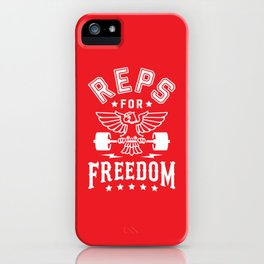 Reps For Freedom v2 iPhone Case