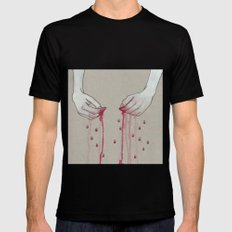 song for pomegranates MEDIUM Mens Fitted Tee Black
