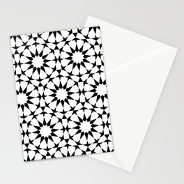 Arabesque in black and white Stationery Cards