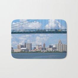 Bridging the Detroit River Bath Mat