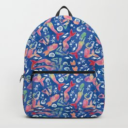 Dreamy watercolor mermaids Backpack