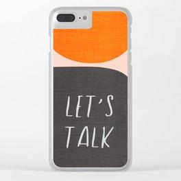 Orange and Black Mid-Century Design Clear iPhone Case