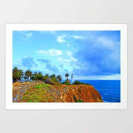 Point Vicente Light House Art Print