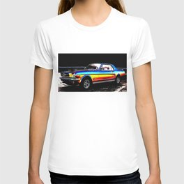 Muscle Car Mustang By Annie Zeno  T-shirt