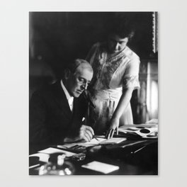 President Wilson and First Lady Edith - 1920 Canvas Print