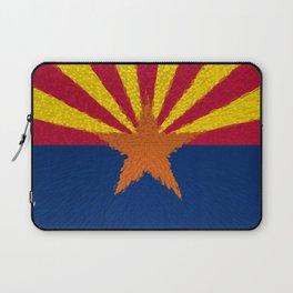 Extruded flag of Arizona Laptop Sleeve