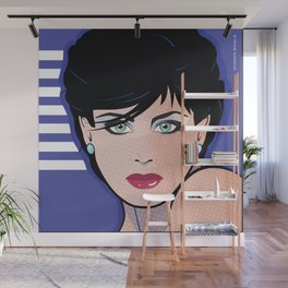 Beautiful Pop Art Woman Bettina Wall Mural