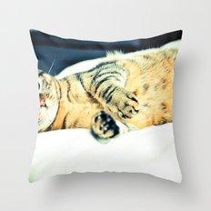 Кошка Throw Pillow