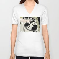 dj V-neck T-shirts featuring DJ! by Parrish